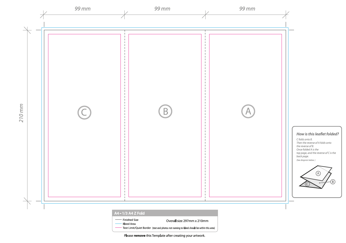 foldable booklet template - folded flyer artwork template